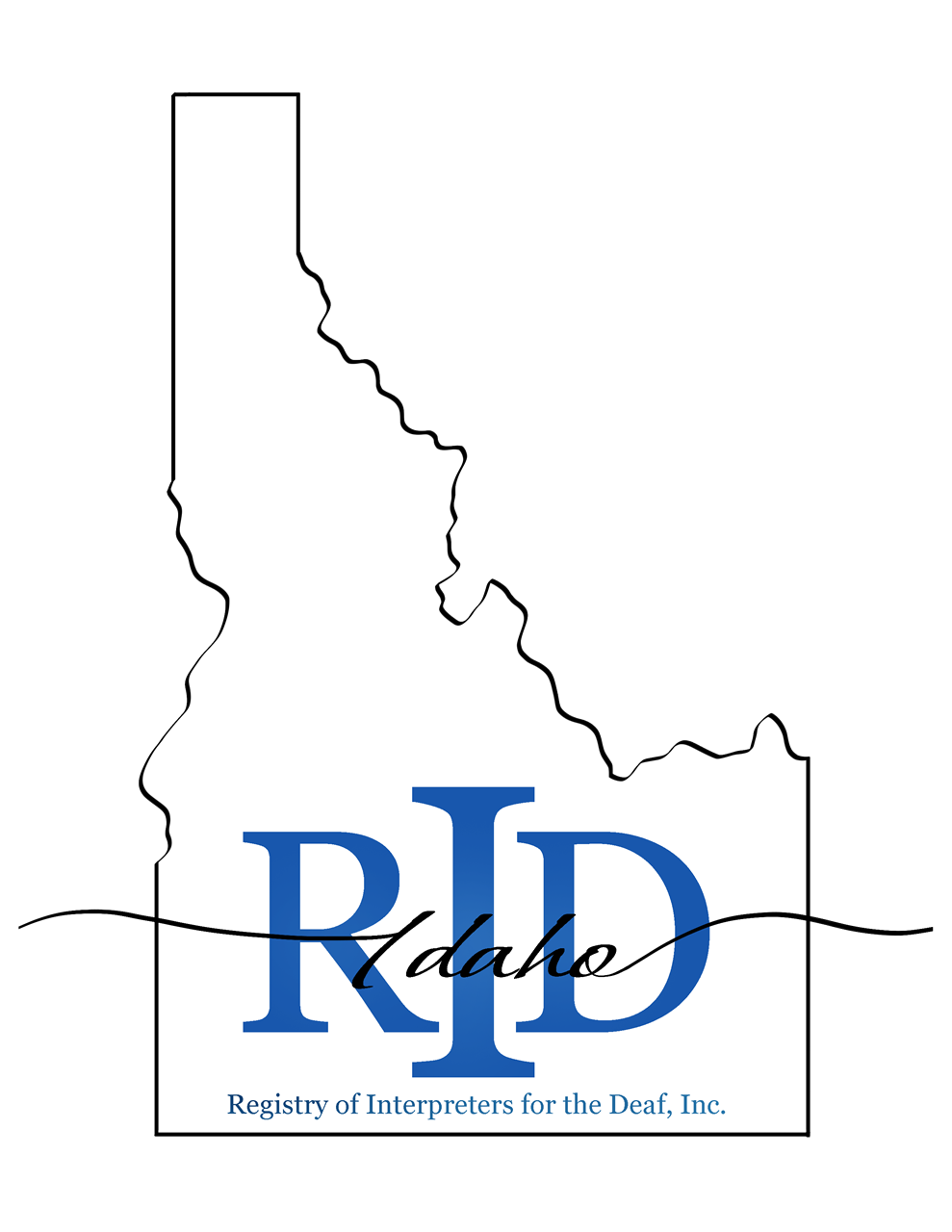 Idaho Registry of Interpreters for the Deaf logo